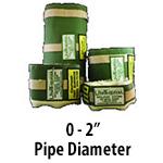 """0 - 2"""" Pipe Diameter"""