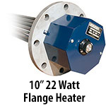 "10"" 22 watts per sq. inch Flange Heaters"