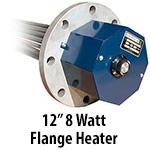 """12"""" 8 watts per sq. inch Flange Heaters"""