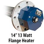 """14"""" 13 watts per sq. inch Flange Heaters"""
