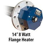 """14"""" 8 watts per sq. inch Flange Heaters"""