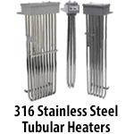 316 Stainless Steel Tubular Heaters