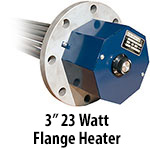 "3"" 23 watts per sq. inch Flange Heaters"