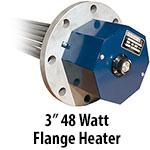 """3"""" 48 watts per sq. inch Flange Heaters"""