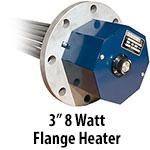 """3"""" 8 watts per sq. inch Flange Heaters"""