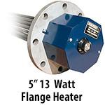 """5"""" 13 watts per sq. inch Flange Heaters"""
