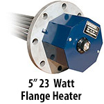 "5"" 23 watts per sq. inch Flange Heaters"