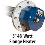 """5"""" 48 watts per sq. inch Flange Heaters"""