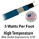 High Temperature 5 W/Ft
