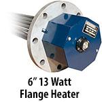 """6"""" 13 watts per sq. inch Flange Heaters"""