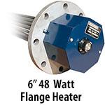 """6"""" 48 watts per sq. inch Flange Heaters"""