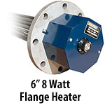 """6"""" 8 watts per sq. inch Flange Heaters"""