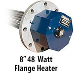 """8"""" 48 watts per sq. inch Flange Heaters"""