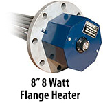 """8"""" 8 watts per sq. inch Flange Heaters"""