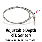 Adjustable Depth RTD Sensors
