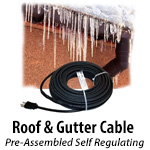 Pre-Assembled Roof and Gutter Heat Cable Kits