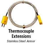 Thermocouple Extensions - Stainless Steel Armor