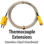Thermocouple Extensions - Stainless Steel Braid