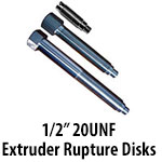 """1/2"""" 20UNF Extruder Rupture Disks"""