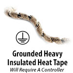 Grounded Heavy Insulated Heat Tapes