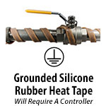 Grounded Silicone Rubber Heat Tape