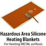 Hazardous-Area Silicone Heating Blankets