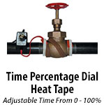 Heat Tape with Time Percentage Dial Control