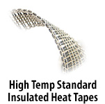 High Temperature Standard Insulated Heating Tapes