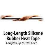 Long Length Silicone Rubber Heating Tape