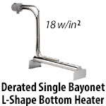 Metal Single Bayonet L Shape Over The Side Heaters - Derated