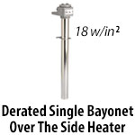 Metal Single Bayonet Over The Side Heaters - Derated