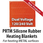PRTM Dual Voltage Silicone Rubber Heating Blankets