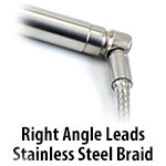 Cartridge Heater - Right Angle Stainless Steel Braid