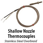 Shallow Nozzle Thermocouple