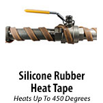 Silicone Rubber Heat Tape - Up to 450 Degrees