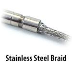 Cartridge Heater - Stainless Steel Braid