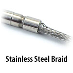 Cartridge Heater - Stainless Steel Braid
