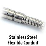 Cartridge Heater - Stainless Steel Flexible Conduit