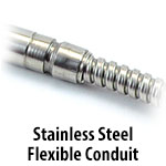 Cartridge Heater - Stainless Steel Flexible Conduit