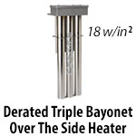Metal Triple Bayonet Over The Side Heaters - Derated