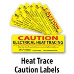 Heat Trace Caution Labels