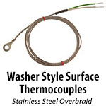 Washer Style Surface Thermocouples