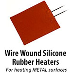 Wire Wound Silicone Rubber Heaters
