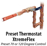 Silicone Heat Tape With Preset 70 or 120 Degree Thermostat