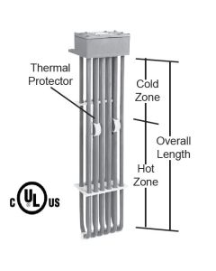"12,000 watt 6 Element PTFE Heater - 55"" Hot Zone - 68"" Overall Length"