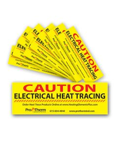 Heat Trace Caution Labels 10 Pack