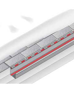 roof and gutter heat trace channel