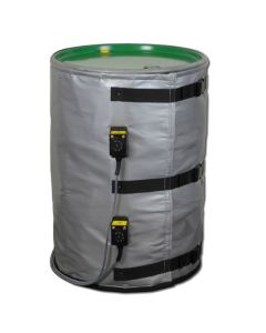 High Power Dual Zone 55 Gallon 2600w Heated Jacket - Plastic, Metal or Fiber Container