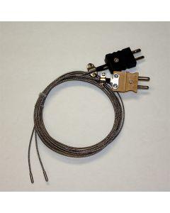 Mini Fixed Probe Type J Braided Lead Thermocouple