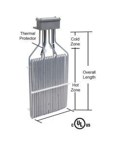 """4500 watt O shape 3 element PTFE Heater - 9.5"""" Hot - 17"""" Overall"""